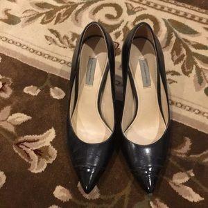 Black cap heels